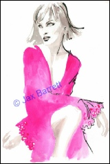 Sapphires by Jax Barrett Fashion Illustrations